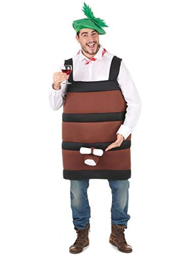 Generique - Witziges Weinfass-Kostüm für Herren braun Einheitsgröße (42)