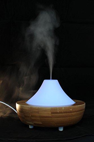 Aroma Diffuser Altais aus Bambus und Glas