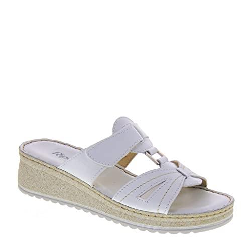 Riposella 16602 - Sandalias para mujer Blanco Size: 37 EU