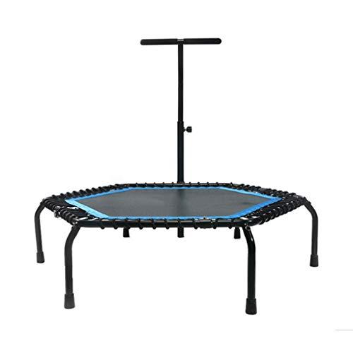 Trampoline opvouwbare mini 50 inch, fitness veiligheidskussen, stabiele en stille sportrugplank, geschikt voor indoor/tuinoefeningen, maximale belasting 150 cm