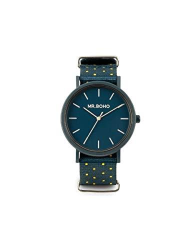 Reloj Yellow/Blue Square Gomato Esf.Azul Correa Nato