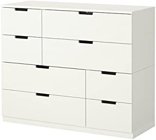IKEA NORDLI 8-Drawer Dresser, White 592.395.23, 47 1/4x38 1/4