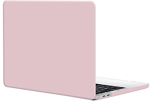 TOPIDEAL MacBook Pro 15 Case (2018/2017//2016 Release, Model: A1990/A1707) Smooth Matte Frosted Plastic Hard Cover for Macbook Pro 15 Inch with Touch Bar and Touch ID -Rose Quartz