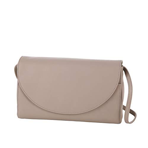 Klatta by Offermann Clutch/Unterarmtasche aus hochwertigem Leder für Damen 25x15,5x4,5cm (taupe)
