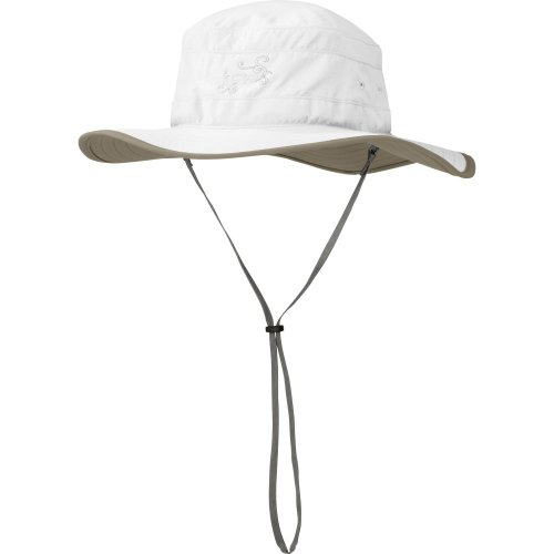Outdoor Research Women's Solar Roller Sun Hat - Breathable UV Protection White/Khaki