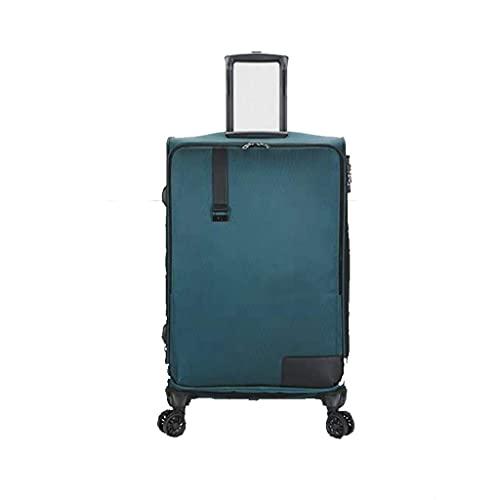 Pull Rod Box Rueda Universal Expandible, Maleta, Maleta con Apertura Frontal, Caja de Embarque (Color: Verde, Talla: A (20))