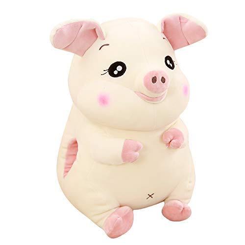 EREL Nette Schweinefleisch Simulation Umarmung Teddy Spielzeugkissen für faulen Schlaf zum Senden natürlicher Mädchen dedu