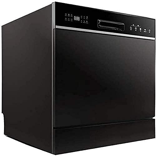 YXYY Instalación Gratuita de Escritorio para el hogar de lavavajillas automático Integrado 8 Juegos de lavavajillas, Secadora