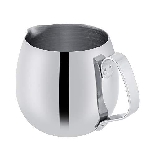 Milchaufschäumen Krug Dick Rostfreier Stahl Espresso Dämpfen Krug Latté Kaffee Aufschäumender Becher Milch Becher Krug(300ml)