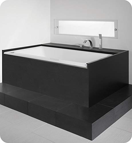 Save %14 Now! NEPTUNE ZORA bathtub 36x66 with Tiling Flange and Skirt, Left drain, Tonic, Black, Hig...