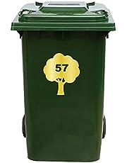 Kliko Sticker/Vuilnisbak Sticker - Boom - Nummer 57-16,5x18,5 - Goud