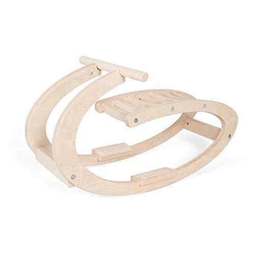 Holz Schaukelpferd für Kinder | Modern Wippe Holz Pferd minimalistisches Design | Schaukel Pferd aus helles rohes natürlichem Holz | 100% ECO | Made in EU