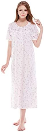 Keyocean Nightgown s for Women 100 Cotton Short Sleeve Long Nightgown Soft Lightweight Sleepwear product image