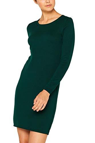 edc by ESPRIT Damen 089Cc1E001 Kleid, Grün (Bottle Green 385), X-Small (Herstellergröße: XS)