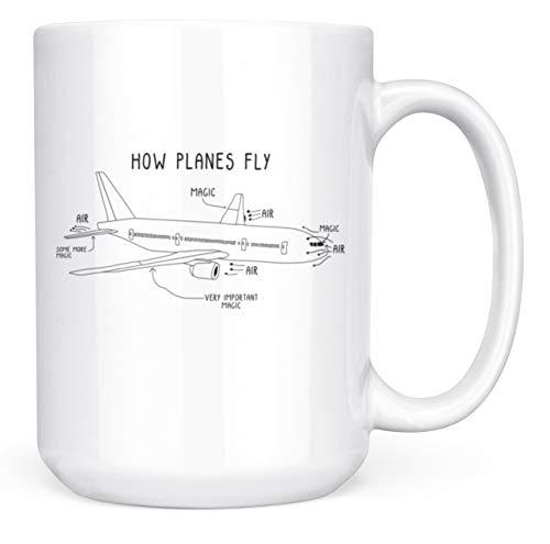How Planes Fly Mug Funny Pilot, Engineer Gift - 15oz Deluxe Double-Sided Coffee Tea Mug