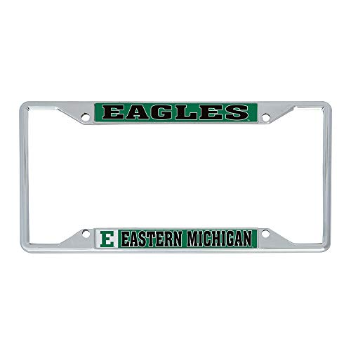 Desert Cactus Eastern Michigan University EMU Eagles NCAA Metal License Plate Frame for Front or Back of Car Officially Licensed (Mascot)
