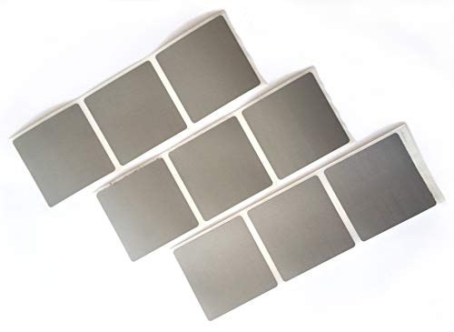 100 Rubbeletiketten, Rubbelsticker quadratisch 5 * 5 cm