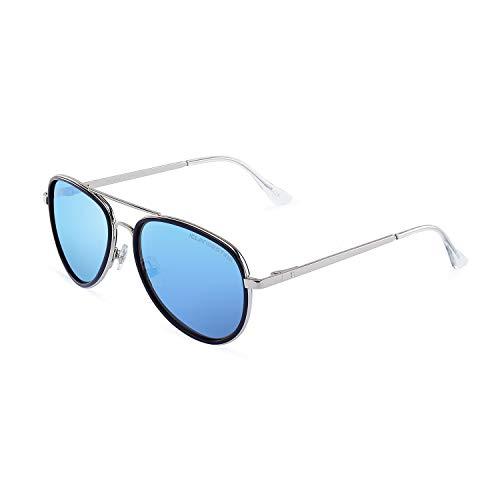 CLANDESTINE A15 Silver Navy Ice Blue - Gafas de sol Nylon HD Hombre & Mujer