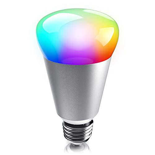 CSL - dimmbare WiFi Smart LED Lampe - LED Stimmungslicht - RGB Smart Light - RGB-Farbwechsel Mehrfarbenlicht - E27-Gewinde - 7W - 400 Lumen
