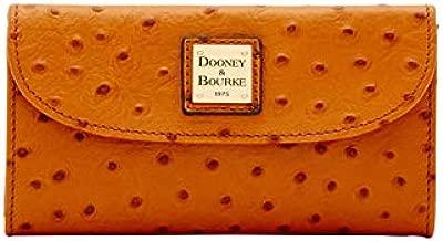 Dooney and Bourke Ostrich Emb Continental Clutch Tan