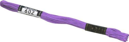 オリムパス製絲 刺繍糸 25番/8m 6綛入 COL.602