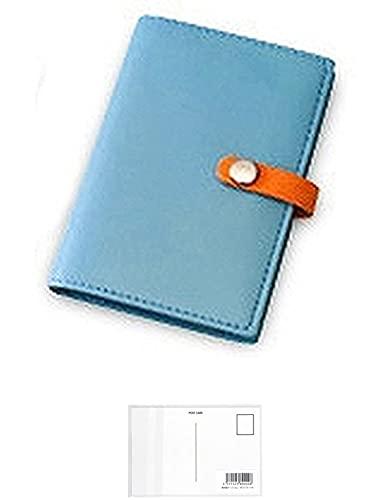 レイメイ藤井 カードケース 20ポケット 合皮製 ブルー CH119A 【まとめ買い 2 パック 】 + 画材屋ドットコム ポストカードA