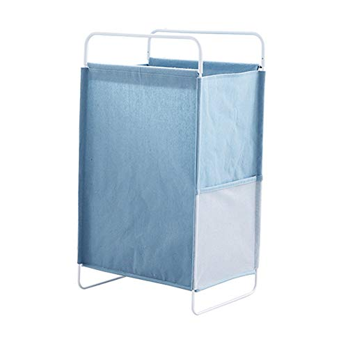 AINH 60l Foldable Laundry Basket With Handles,Waterproof Canvas Large Capacity Laundry Hamper,Portable Laundry Bag Toys Clothing Organization Blue 70x40cm(28x16inch)