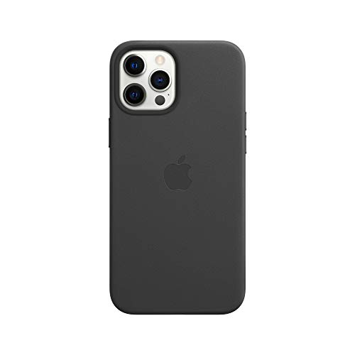 Apple Funda de Piel con MagSafe (para el iPhone 12 Pro MAX) - en Negro