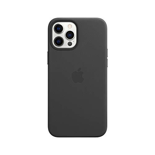 Apple Leder Case mit MagSafe (für iPhone 12 Pro Max) - Schwarz - 6.7 Zoll