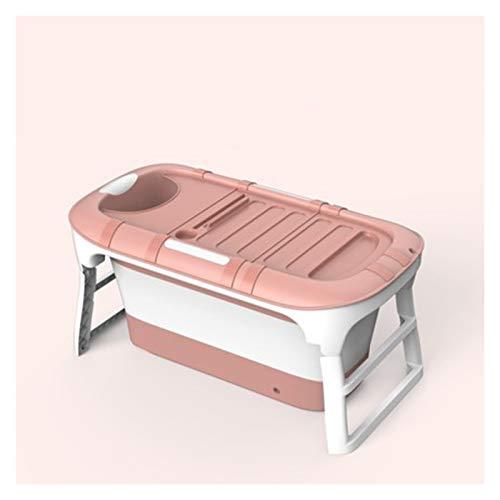 ASPZQ Bañera para Adultos Cubo Baño para Niños Piscina Cubo Baño Bebé Bañera Doméstica Bañera para Bebé Grande Universal 114 * 60 * 55cm (Color : Pink B)
