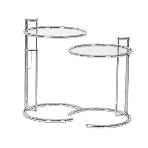 Eileen Gray 2X Adjustable Table E1027 -Neuware ClassiCon/Beistelltisch/Kristallglas/DesignKlassiker von Klingenberg