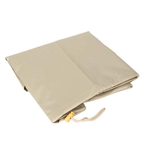 Tela Oxford 210D plegable fácil de llevar duradera cubierta de mesa a estrenar para exteriores (Beige)