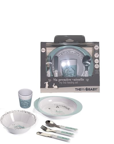 THERMOBABY Coffret Vaisselle Mélamine Foret
