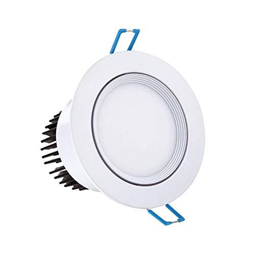 Mini luz empotrable 3W LED Lámpara de techo 3000K 4000K 5000K Diámetro de orificio de techo seleccionable 55-60 mm Instalación de inclinación rotativa de ángulo de luz ajustable para Corredor Dormitor