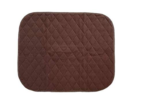 Washable Chair Pads - Absorbent Incontinence Pads - Pack of 2 - Bayliss Mobility (Brown)
