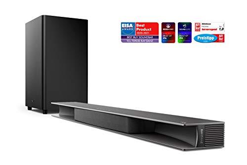 TCL TS9030 RAY DANZ Soundbar Testsieger (105 cm) mit Subwoofer (Bluetooth Soundbar, 3.1-Kanal-Sound, 540W max. Gesamtleistung, HDMI ARC, Dolby Atmos, AUX 3,5 mm Line Eingang) Schwarz