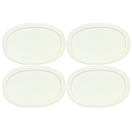 Oval French White 15-ounce Plastic Lid (4 Pack) - Corningware F-15-PC