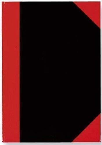 Chinakladde A5 96BL kariert 29115 sw/rot rote Ecken