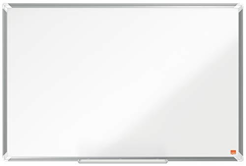Nobo magnetisches Stahl Whiteboard, 60 x 90 cm, Aluminiumrahmen, Traditionelle Eckmontage, Inkl. Whiteboard-Marker, Premium Plus, Weiß, 1915155