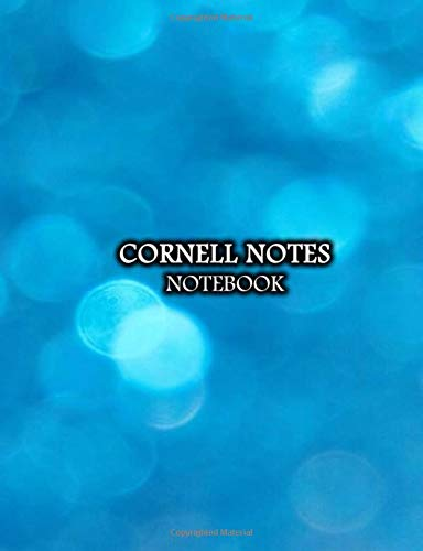 Cornell Notes Notebook: Blue Sky Taking System College Ruled Lined Paper Journal with Recall and Note Column For School and University | Air Bubble Print