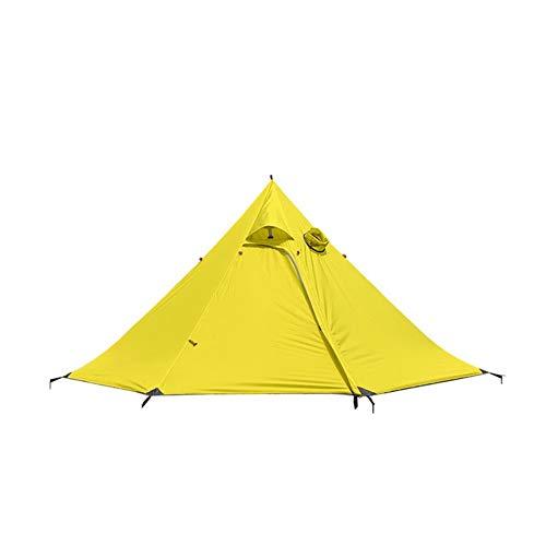 Ai-lir Event Zelt Pyramidenzelt außerhalb großer super leeerlich 3 4 Personen Rucksack Zelt wasserdichte 4 Jahreszeiten Zelt Camping Wanderung (Color : Yellow)