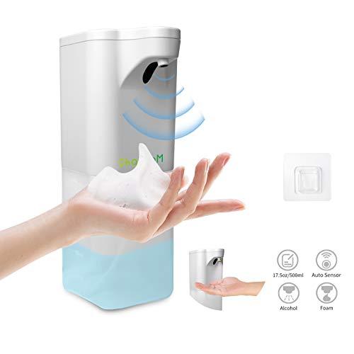 SHAWLAM 500ml Automatisch Desinfektionsspender Automatisk Sprühspender Schaum mit Infrarot Sensor Sprühspender, mit Wandhaken No Touch Seifenspender für Küche, Bad
