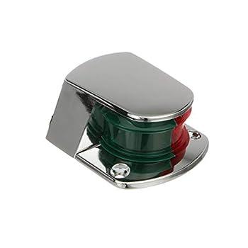 Attwood 6375D6 ZAMAK 1-Mile Sidelights Bi-Color Combination Deck Mount Provides 1-Mile 225-Degrees Light Visibility 12V