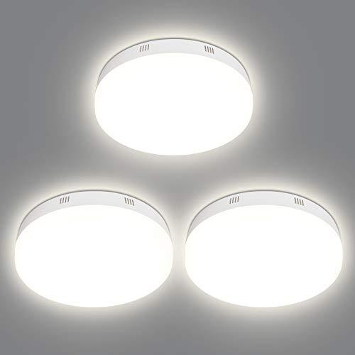 LEDDeckenleuchte,OPPEARLØ18.5cmKüchenlampe,20W2000lm4000K,LEDDeckenlampefürKüchen,Büro,Balkon,Korridor, 3PCS