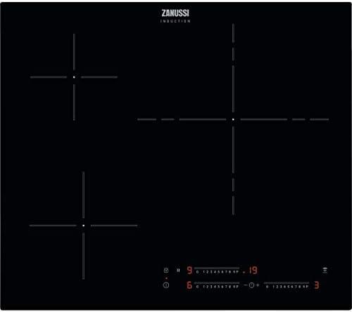 Zanussi ZITN634K Placa inducción, 3 zonas, Función Pausa,Temporizador, Calentamiento automático, Avisador minutos, Bloqueo seguridad, Avisador acústico, Control táctil deslizantel, Negro, 60 cm