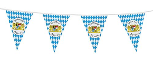 Boland- Filare Bandierine Freistaat Bayern Festa della Birra, Azzurro/Bianco, 54220