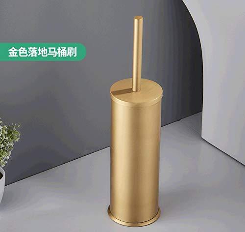 Fslt Toilettenbürste Toilettenbürstenfreier Einbau Bodentyp Toilettenreinigungsbürstenset Mit Deo-Toilettenbürste-Gold