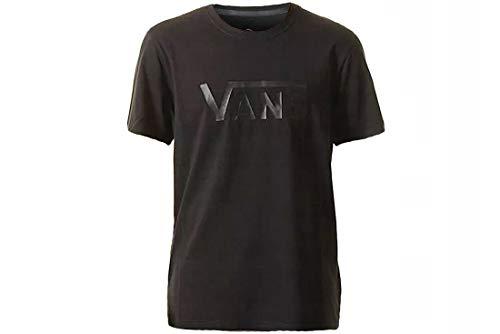 Vans Ap M Flying Vs tee Camiseta, Negro (Black Vn0004yiblk), Medium para Hombre