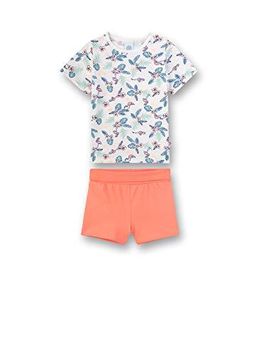 Sanetta Baby-Mädchen kurzer Pyjama Zweiteiliger Schlafanzug, Beige (Broken White 1427), 92 (Herstellergröße: 092)