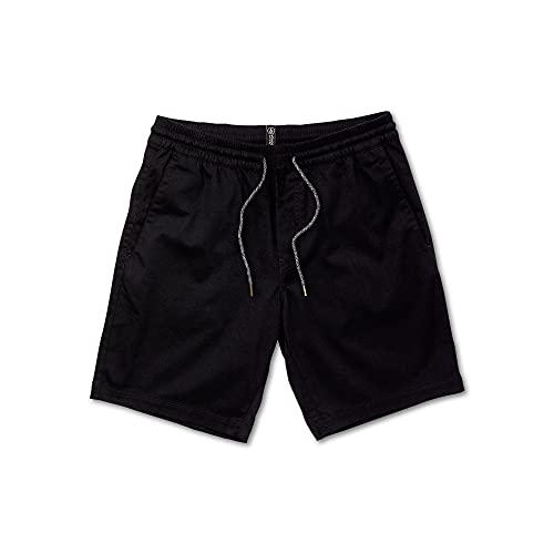 Volcom Men's Frickin Elastic Waist 19' Chino Short, Black, MEDIUM